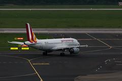 IMG_0012 (Benedikt Lang) Tags: 4u9030 a319112 daknl dus dusham planespotting airport germany eddl aircraft morning rain night