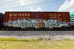 (o texano) Tags: bench graffiti texas houston trains optimist freights stuey benching