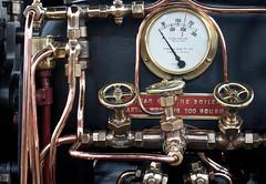 Daresbury traction engine detail 13 jul 16 (Shaun the grime lover) Tags: detail metal warrington traction engine fair steam machinery valve copper pressure brass gauge valves boiler pipework gage daresbury halton