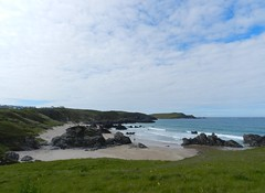 Sango Sands, Durness, North West Sutherland, July 2016 (allanmaciver) Tags: sango sands durness sutherland north west coastline rugged rocks water sea cloudy waves surf admire enjoy delight allanmaciver beach