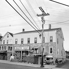 Milltown, NJ (Dalliance with Light) Tags: bw film us newjersey unitedstates trix nj wires cigars 24mm telephonepole nikonfm2 milltown