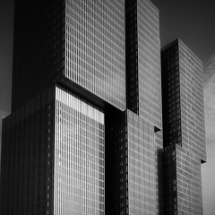 Rotterdam 2016 De Rotterdam (Hans de Meij) Tags: rotterdam building remkoolhaas oma architecture monochrome blackandwhite