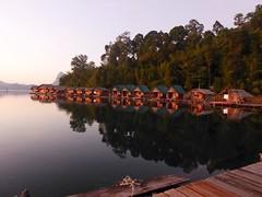 Khao Sok NP (Cheow Lan Lake), Thailand (Jan-2016) 17-004 (MistyTree Adventures) Tags: trees lake water thailand seasia outdoor dam huts cheowlanlake panasoniclumix khaosoknp