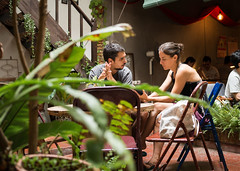 Talk to me (jyopattis) Tags: coffee cafe melaka malacca dailyfix malaysia asia travel people peoplewatching cafelife tourist couple chilling phone lifestyle framing