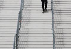 The red spot (mennomenno.) Tags: trap stair legs benen hekken fences groothandelsgebouw rotterdam schaduw shadow