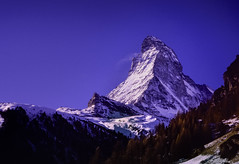 Matterhorn Zermatt (robertdownie) Tags: sky switzerland mountains winter blue europe italy snow swiss mountain alps chocolate zermatt matterhorn valais wallis