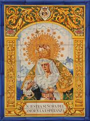 Azulejo (jacekbia) Tags: europa hiszpania almeria espania spain azulejo pytki ceramika religia religion canon 1100d tamron