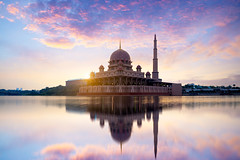Putra mosque (Patrick Foto ;)) Tags: allah architecture asia asian beautiful building city culture dome dusk evening famous islam islamic kuala lake landmark landscape lumpur malaysia masjid minaret modern morning mosque muslim nature pray putra putrajaya red reflection religion river scene sky structure sun sunrise sunset tourism travel view water wilayah worship wilayahpersekutuanputrajaya my