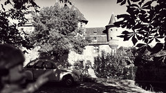 07/08/2016 day 350 : Collonges-la-Rouge 02 (shaye.photo@yahoo.fr) Tags: ifttt 500px no person monochrome tree vehicle outdoors street travel nature transportation system black white castle 2cv bw figurine miss meteo project365 365days 365photos iphone iphone6s iphonephoto shotoniphone sunny missmeteo corrze dordogne limousin sudouest