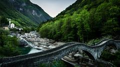 Ponte dei Salti (Mopple Labalaine) Tags: verzasca valley fluss tessin church switzerland valle schweiz lavertezzo ticino stream bridge stone ponte romano
