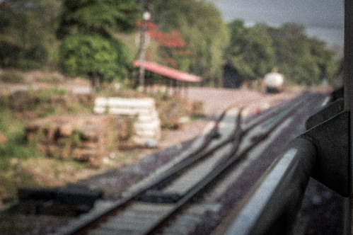 Crossed Lines - Bangkok To Chiang Mai Railway, Thailand.