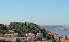 Le Chteau (hans pohl) Tags: portugal lisbonne sunny ensoleill houses maisons btiments buildings cities villes fleuves rivers