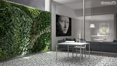 CGI Architecture studio: inside courtyard with vertical garden. (Eloisa Conti) Tags: 3d 3dvisualization architecture artist architectural art architect cinema4d cgart cg cgi design furniture generalist gardening interior interiordesign living loft lightning lamp launge minimalistic minimal office postproduction photomontage render rendering reflections style terrace visualization visualizer visualisation visualiser vray vertical