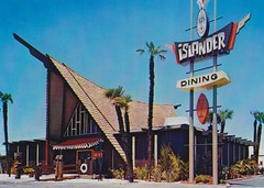 Islander Restaurant, Stockton, CA - Architect - Warren Wong; Sign Design by Bill Clarke - Ad Art, Inc. (hmdavid) Tags: islander stockton california tiki 1960s polynesian hoplouie tommylee warrenwong adart billclarke oceanicarts otagiri aframe midcentury modern architecture design sign