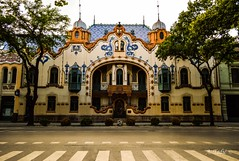 Palata Rajhl (A. Tadic) Tags: palace museum art architecture subotica srbija city building architect ferenc raichle artnouveau style facade color street serbia photo nikon center yelloq orange tree europe light world abandoned serene road wall august summer symmetry