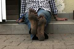 dirty feet - indoor 015 (dirtyfeet6811) Tags: feet soles barefoot dirtyfeet dirtysoles blacksoles partyfeet