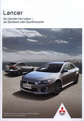 Mitsubishi Lancer, Der Sportler frs Leben - als Sportback oder Sportlimousine; 2016_1 (World Travel Library) Tags: mitsubishi lancer sportler sportback sportlimousine 2016 car brochure automobil papers prospekt catalogue katalog vehicle transport wheels makes models model automobile automotive cars   worldcars motor motoring drive wagen fahrzeug photos photo photography picture image collectible collectors collection sammlung recueil collezione assortimento coleccin ads online gallery galeria japanese japan frontcover ride go by documents dokument broschyr  esite   catlogo folheto folleto   ti liu bror