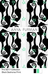 Anya_Furman_Black_Seahorse (Anya Furman) Tags: pre ss17 collectionpurple bananas fabricdesign textiledesign anyafurman fabric fashiontextilecollection freelancetextyledesigner texiledesigner milanodesign fashiontrend pattern patterndesign purple theanyafurman fabricdesignlabmamber patternobserver strypes stripes octopus rose black white textilepattern trendy fashiontrends seahorse green aqua apois circles geometrical conversational