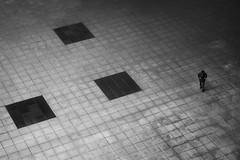 (cherco) Tags: alone solitario solitary lonely composition composicion square perspectiva perspective aloner adoquinado lines lineas human silhouette silueta blackandwhite blancoynegro floor canon city ciudad 5d markiii