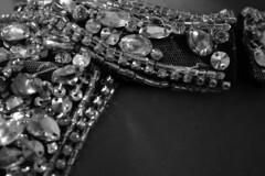 Pageant: Getting ready (Xellif) Tags: detalle detail blancoynegro closeup blackwhite back crystals dress espalda gown pageant vestido piedras cristales acercamiento