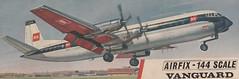 Airfix kit box top, BEA Vanguard G-APEB in 1960s livery (Proplinerman) Tags: model bea airliner turboprop vanguard airfix vickers propliner britisheuropeanairways 1144scale vickersvanguard gapeb