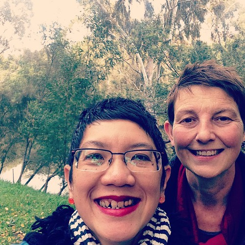 #selfies in front of the #yarrariver #kew on a lovely #sunday