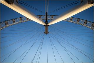 London Eye bevore Sunset