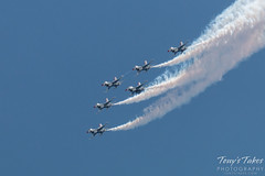 All six Air Force Thunderbirds in formation