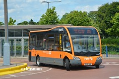 First Glasgow 53734, YJ15AOZ. (EYBusman) Tags: first glasgow strathclyde pte spt bus coach east kilbride shopping centre south lanarkshire station optare solo minibus sr 53734 yj15aoz eybusman