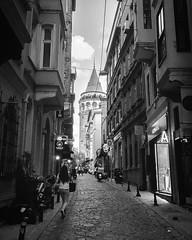 Galatal (Meczup Gncesi) Tags: instagram kule galatakulesi galatatower sokakfotoraf streetphotography beyolu istanbul galata blackandwhite
