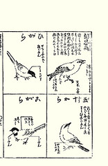 Top left, right  coal tit, red-billed leiothrix; Bottom left, right  willow tit, Eurasian nuthatch (Japanese Flower and Bird Art) Tags: bird art japan japanese book tit picture hayashi coal eurasian nuthatch kano woodblock europea ater sitta poecile wilow redbilled montanus paridae sittidae leiothrix periparus timaliidae lutea readercollection moriatsu