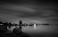 Flowing Clouds (iPhilFlash) Tags: night fraserriver garrypointpark reflections harbor outdoor vancouver nightlights britishcolumbia twilight outdoors steveston canada water richmond harbour sky ca