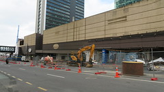Looking down Lower Albert Street at Shopping mall Demolition (Ashley Killip Photography) Tags: demolition ex demo shopping mall crl auckland city rail link nz