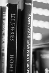 Bookshelf (Oliver Kuehne) Tags: bookshelf anseladams leejeffries monochrom f17