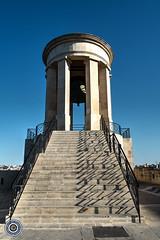 Siege Monument (Michael N Hayes) Tags: malta valletta mediterranean siegemonument europe summer fujifilmxpro1 sea culture city