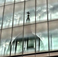Spooky St Paul's Reflection (MoMontyMisty) Tags: reflection st reflections cathedral pauls spooky iphone iphoneography