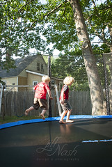 Moments when we are frozen in time (grilljam) Tags: summer seamus ewan 4yrs 7yrs trampolineantics july2016