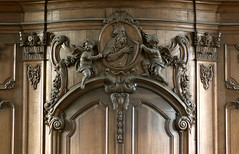 Geel, Vlaanderen, St.-Amandskerk, Geel Vlaanderen Flanders Kempen BE St.-Amandskerkwoodcarving (groenling) Tags: door wood david angel king carving be cherub engel harp geel entry hout woodcarving ingang flanders kempen putto vlaanderen koning houtsnijwerk portaal snijwerk mmiia stamandskerk
