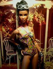 hot girl! (krixxxmonroe) Tags: ira d ryan photography krixx monroe styling high fashion aa brown black doll ooak lip repaint dominique makeda rare appeal integrity toys jason wu