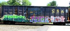 femer - anty - stoer (timetomakethepasta) Tags: femer anty stoer tic cdc hence brisk 4scor cool dude club freight train graffiti boxcar art csx csxt