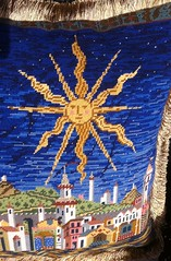 Medieval Starry Night Needlepoint Pillow (victowood) Tags: needlepoint candacebahouth ehrman medieval handmade pillow