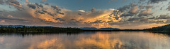 Sunset panorama (hjuengst) Tags: landschaftennatur see sonnenuntergang sunset wolken clouds alpen alps lake kirchsee reflection reflektionen panorama summer sommer weitwinkel wideangle