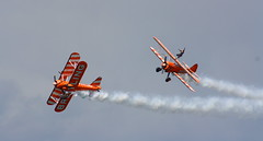 Breitling Wingwalkers - Bray Air Display, 2016 (A guy called John) Tags: bray air display show county wicklow ireland summer red arrows royal force team raf france british italian sky cloud blue grey sunshine people crowd pilot jets aeroplane airliner aer lingus coast guard sikorsky patrouille tranchant breitling wingwalkers dublin killiney head frecce tricolori military colour colourful irish