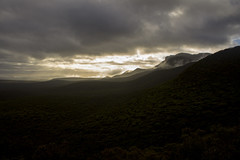 Stirling Ranges (Applinator) Tags: mountain sunrise clouds mist