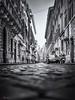 The Street. (Bill Thoo) Tags: viadeicondotti lazio rome roma italy street cobbles urban city travel monochrome blackandwhite ngc panasonic gf1 20mm spanishsteps