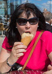 Return of the Ice Cream Meme (The Crewe Chronicler) Tags: icecream icecreammeme newbrighton wirral canon canon7dmarkii helen wife licking