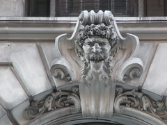 Satyr Gargoyles - The Ansonia Apartment Building 3843 (Brechtbug) Tags: satyr gargoyles the ansonia apartment building now condo upper west side new york city 2109 broadway between 73rd 74th streets built 1899 opened 1904 beaux arts architectural style mansard roof architect paul e m duboy featured 1992 film single white female bridget fonda jennifer jason leigh home pogo cartoonist disney animator walt kelly mobster arnold rothstein athletes jack dempsey babe ruth 8222016 nyc 2016