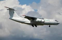 Ceiba Cargo. RA-76384. Ilyushin IL76TD-90. (Themarcogoon49) Tags: ilyushin landing gva airport cointrin avgeek planespotting cargo switzerland