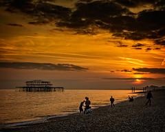 Sunset Over Brighton Beach (mdavies149) Tags: brighton uk seascape nikon d600 michaeldavies england
