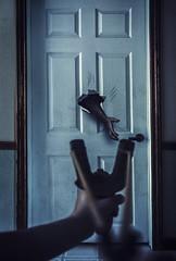 Nightmare (Allison Coles) Tags: surrealphotography slingshot night door allisoncolesphotography